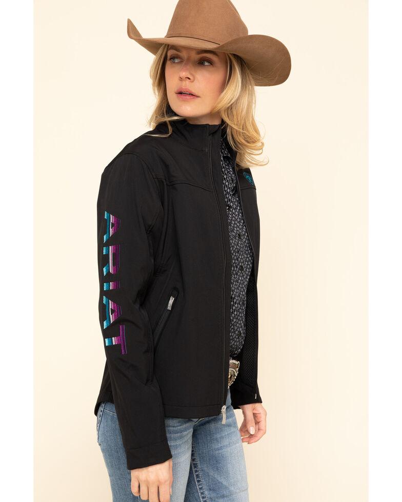 Ariat Women's Black & Serape New Team Softshell Jacket, Black, hi-res