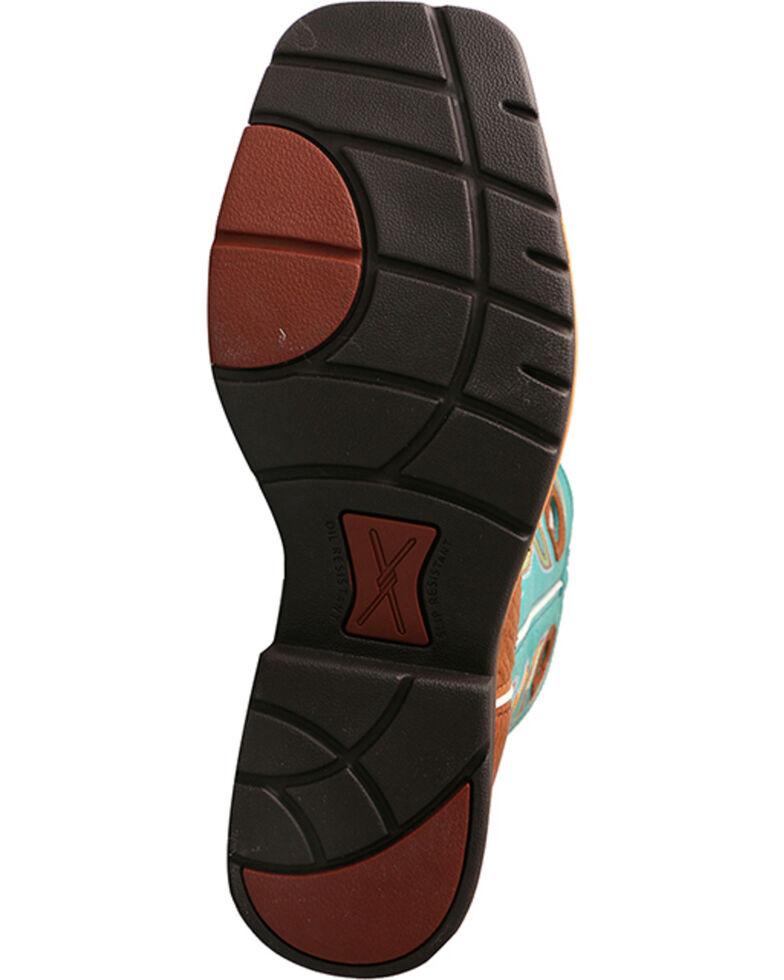 Twisted X Men's Cognac Lightweight Work Boots - Square Toe , Cognac, hi-res