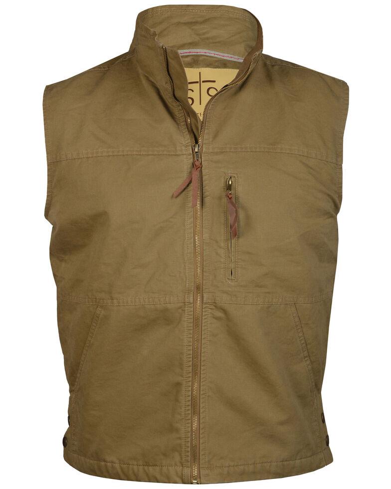 STS Ranchwear Men's Khaki Sundance Vest - Big , Beige/khaki, hi-res