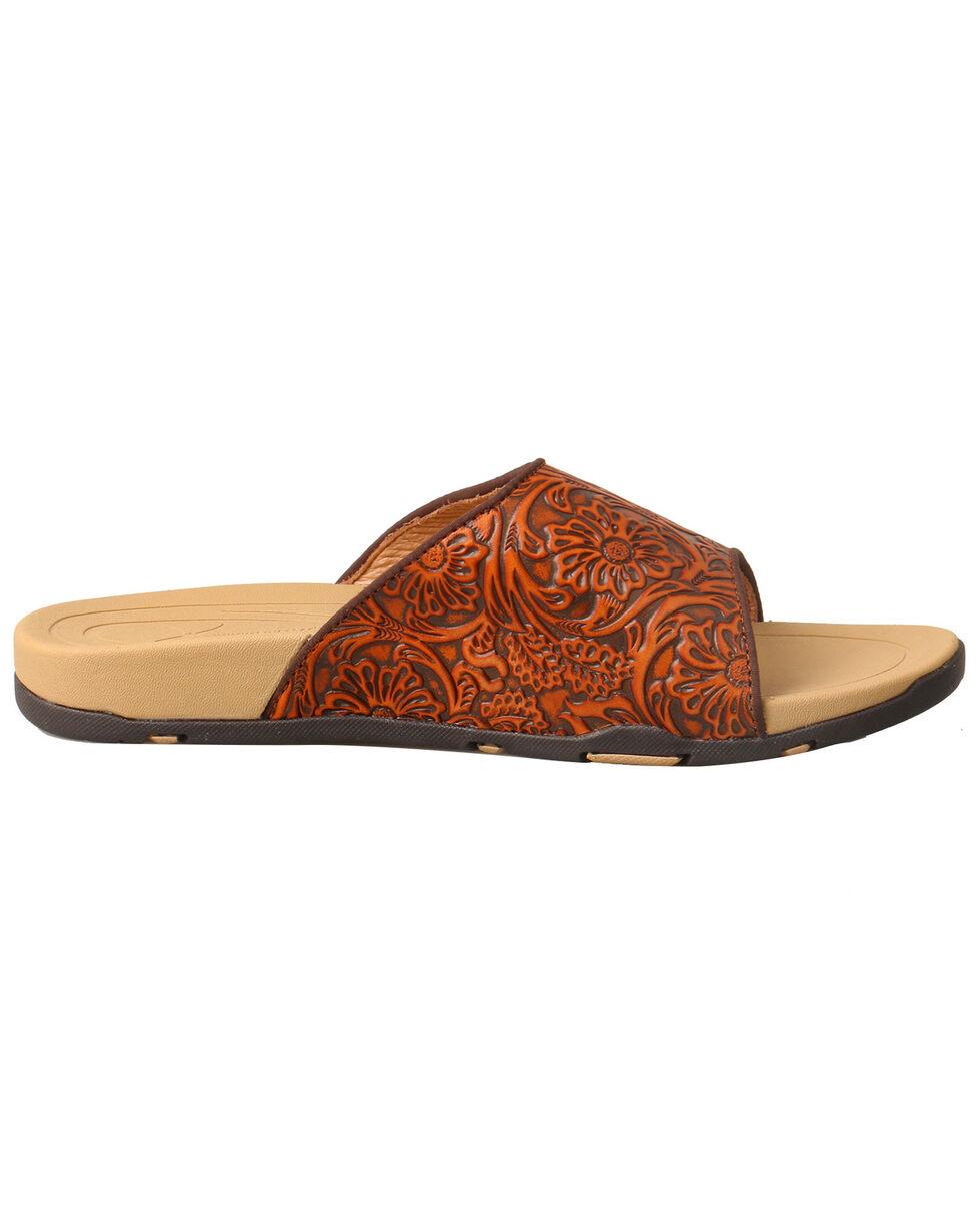 Twisted X Women's Tooled Sandals, Tan, hi-res