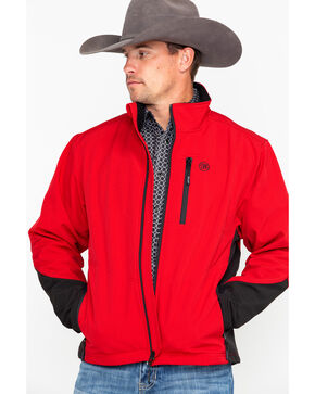 Wrangler Men's Red & Black Trail Jacket, Black/red, hi-res
