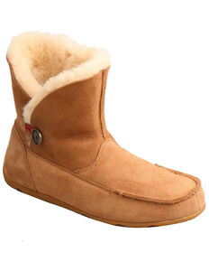 Twisted X Women's Tan Slipper Boots - Moc Toe, Tan, hi-res