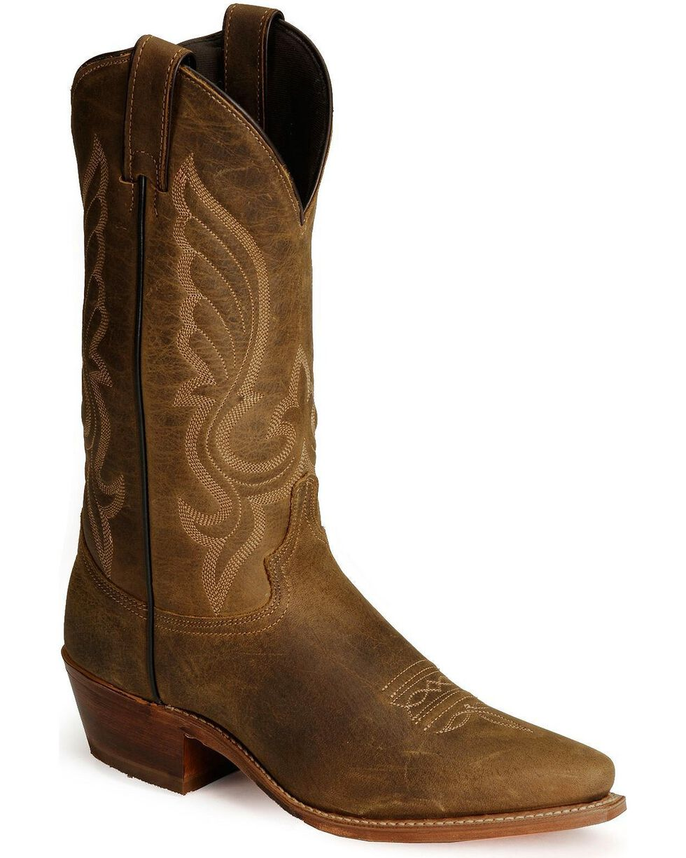 Abilene Distressed Leather Cowboy Boots - Snip Toe, Distressed, hi-res
