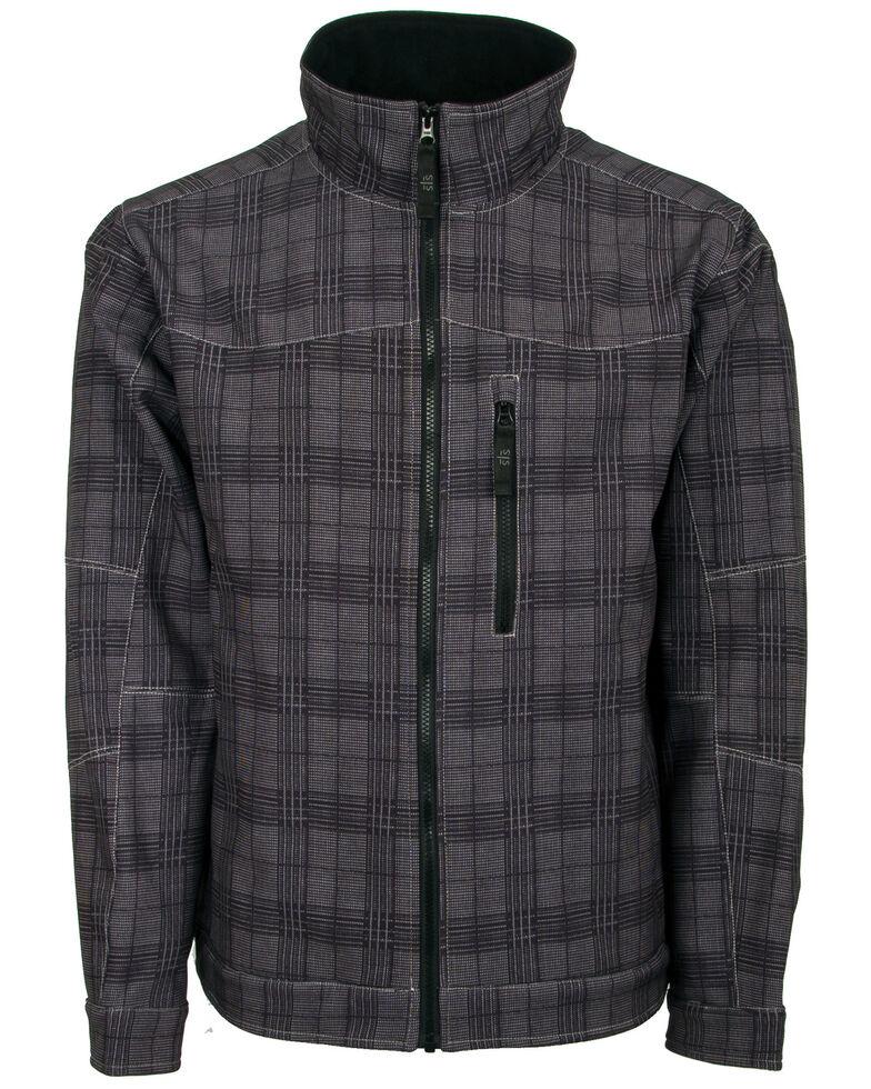 STS Ranchwear Men's Black Plaid The Perf Softshell Jacket , Charcoal, hi-res