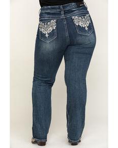Grace in LA Women's Medium Novelty Straight Jeans - Plus , Blue, hi-res