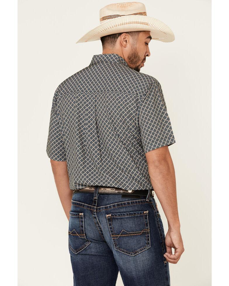 Cinch Men's Arena Flex Black Large Geo Print Short Sleeve Western Shirt , Black, hi-res