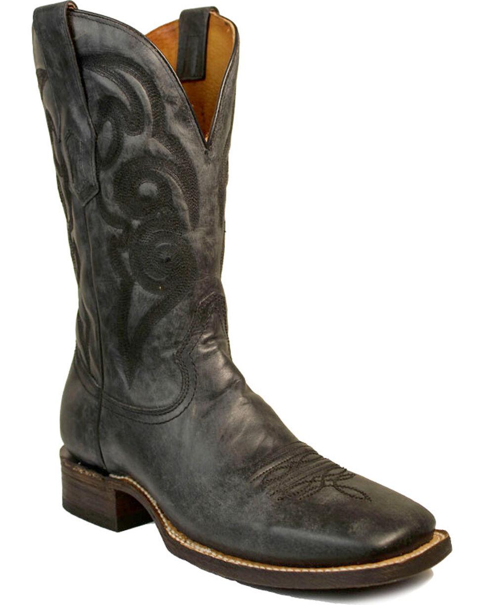 Corral Men's Blue Jean Embroidered Boots - Square Toe , Black/blue, hi-res