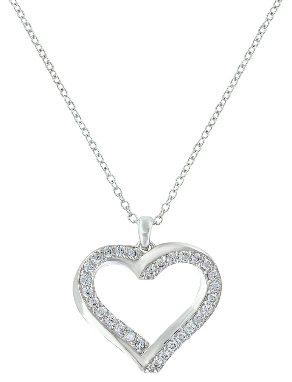 Montana Silversmiths Women's Bright Hearts Entwined Necklace , Silver, hi-res