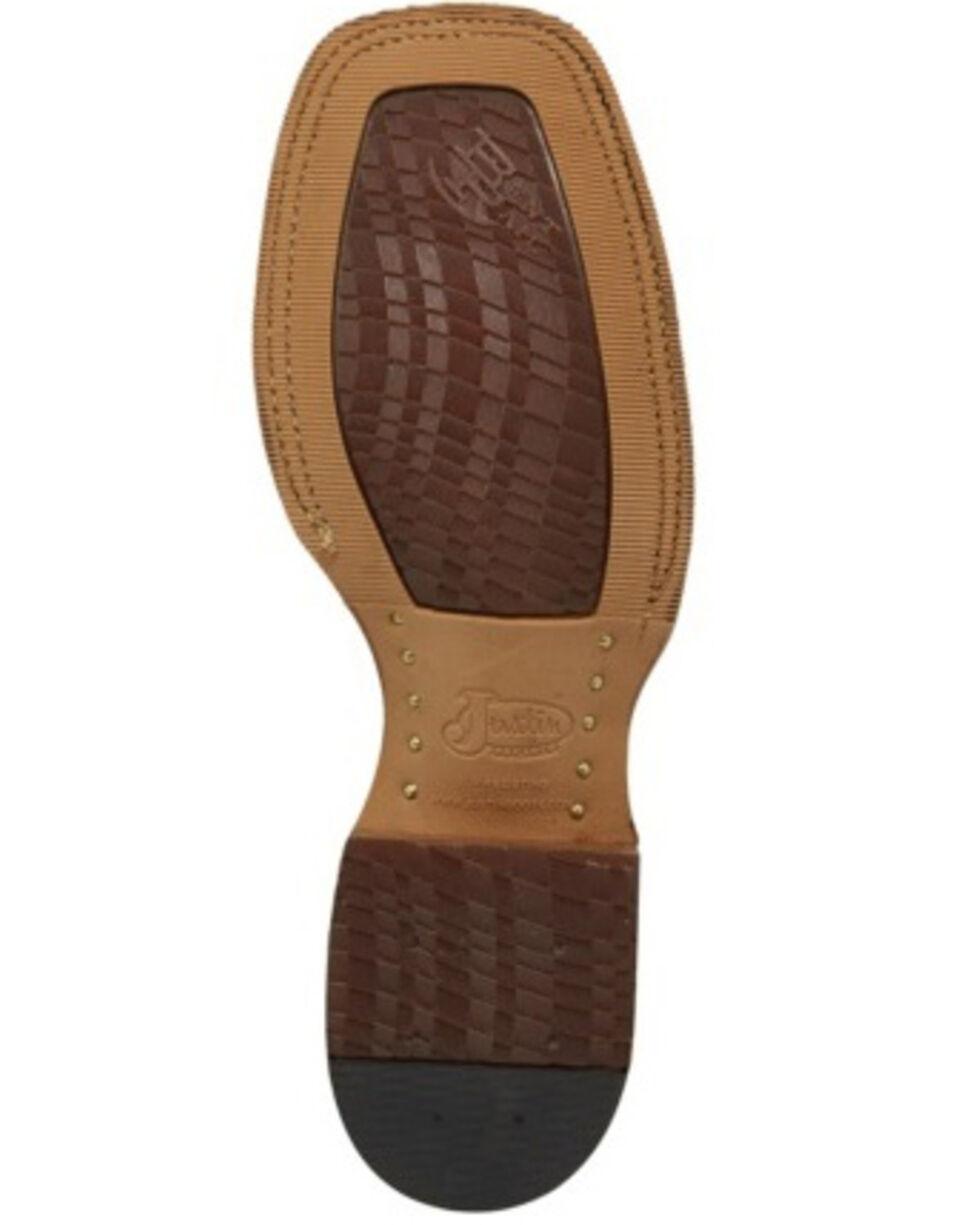 Justin Men's Caddo Summer Western Boots - Wide Square Toe, Tan, hi-res