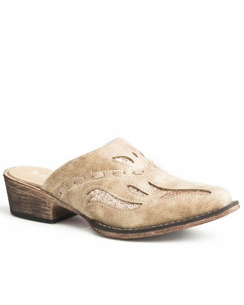 Roper Women's Tan Vintage Whipstitched Mule Shoes - Snip Toe, Tan, hi-res