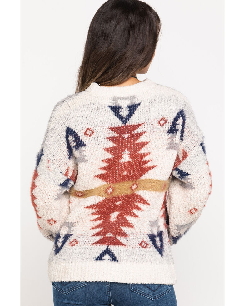 Very J Women's Aztec Pullover Sweater , Multi, hi-res
