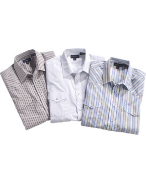 Panhandle Men's Assorted Striped Western Shirt , Multi, hi-res
