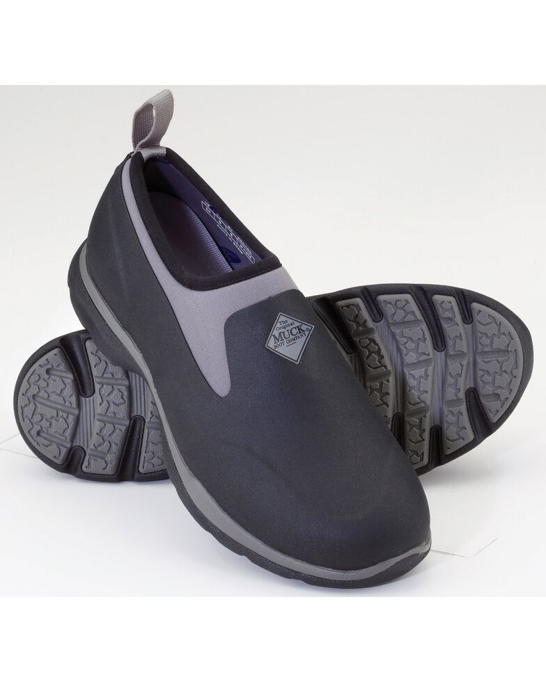 Muck Men's Black Pro Low Shoes , Black, hi-res