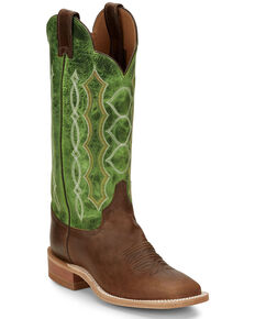 Justin Women's Lawton Taupe Western Boots - Wide Square Toe, Lt Brown, hi-res