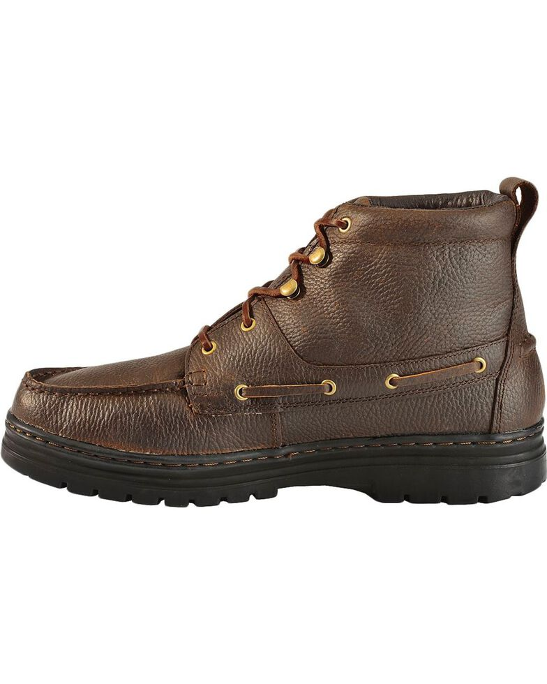 Justin Men's Chip Casual Lace-Up Boots, Rust, hi-res