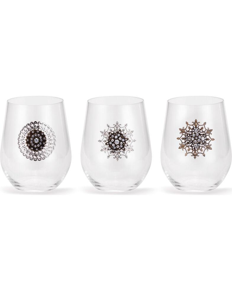 Demdaco Embellished Cocktail Glasses - 3 Assorted , No Color, hi-res