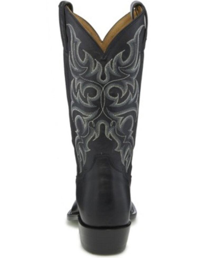 Tony Lama Men's Townes Black Western Boots - Round Toe, Black, hi-res