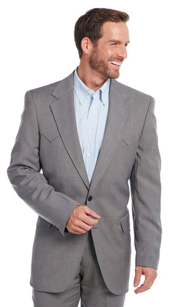 Circle S Men's Steel Grey Lubbock Sport Coat - Big & Tall , Steel, hi-res