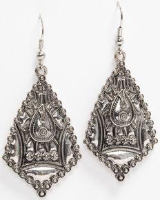 Idyllwind Women's Wildin' Geo Aztec Earrings, Silver, hi-res
