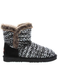 Lamo Footwear Black Women's Yuma Fleece Boots - Round Toe, Black, hi-res