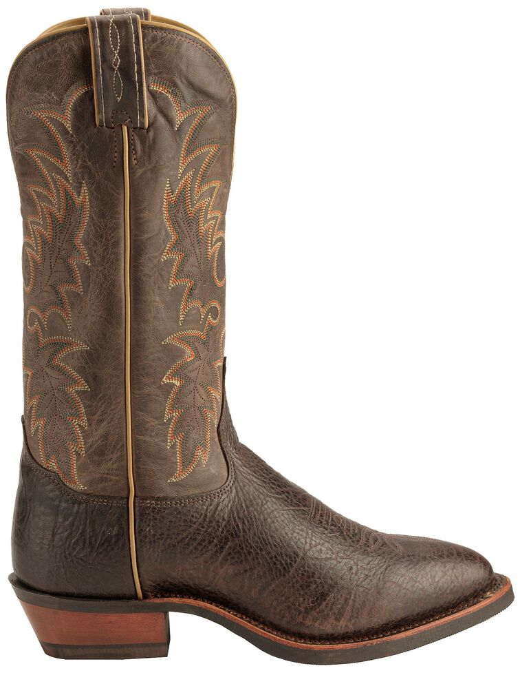 Tony Lama Americana Conquistador Shoulder Cowboy Boots - Medium Toe, Java, hi-res