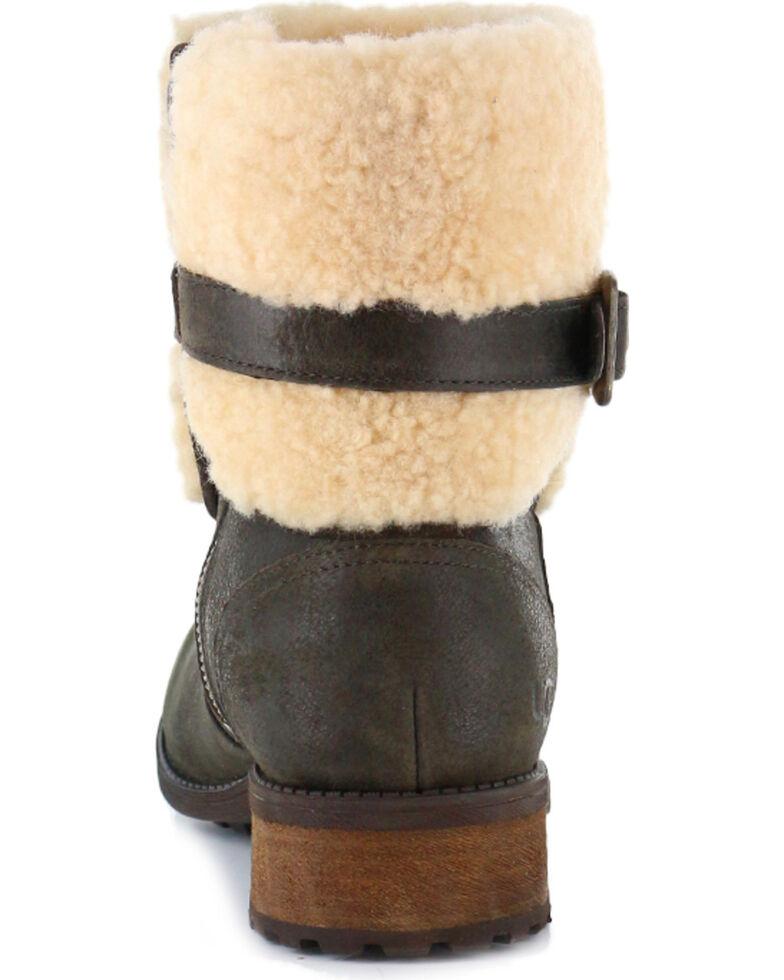 UGG Women's Lodge Avalahn Blayre II Boots - Round Toe, Dark Brown, hi-res