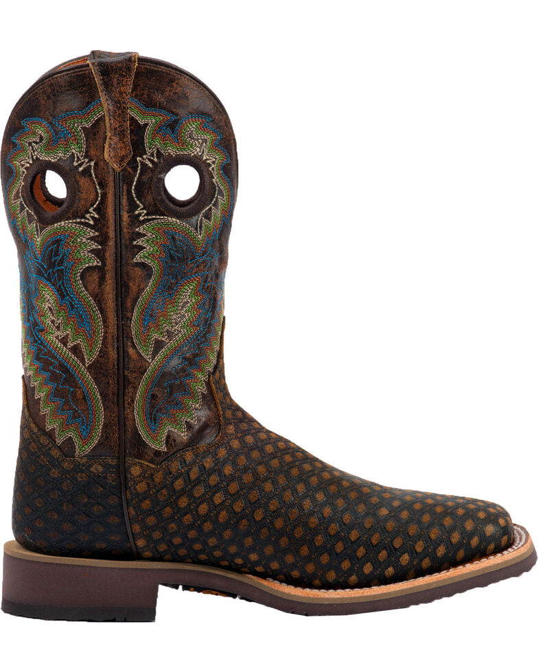 Dan Post Men's Boss Cowboy Boots - Square Toe, Brown, hi-res
