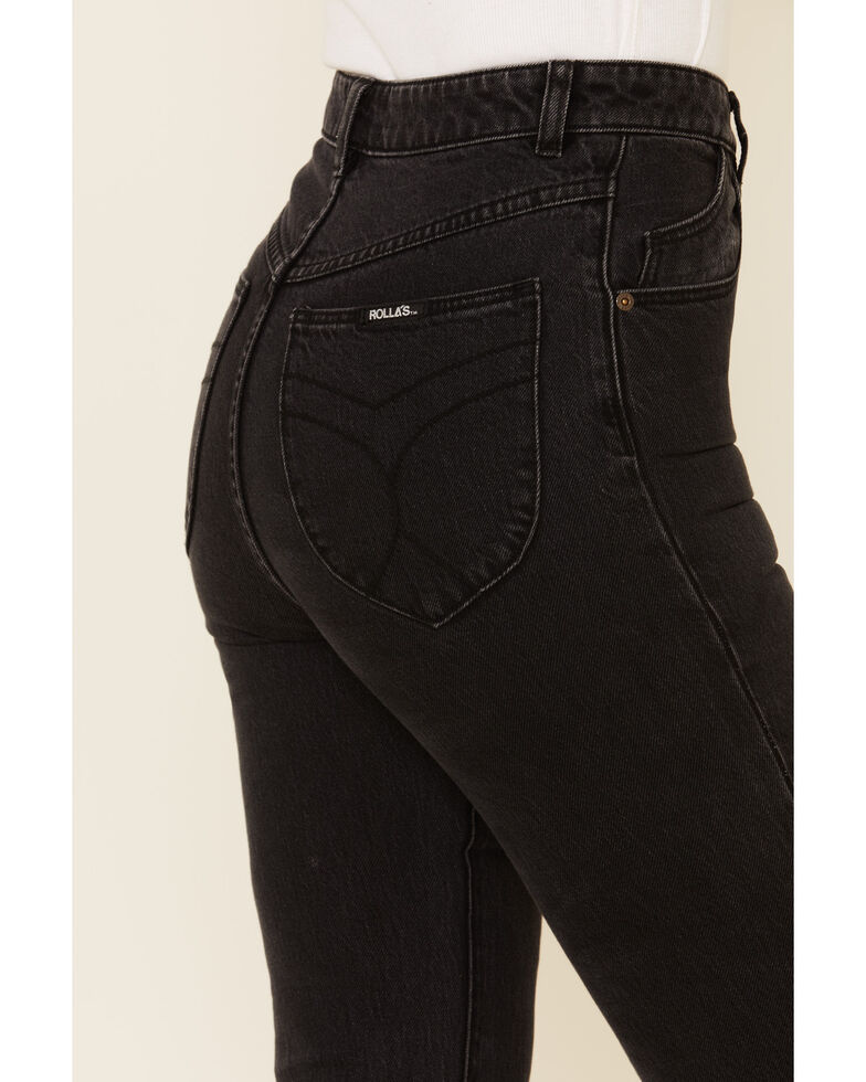Rolla's Women's Shadow Dusters Bootcut Jeans, Black, hi-res