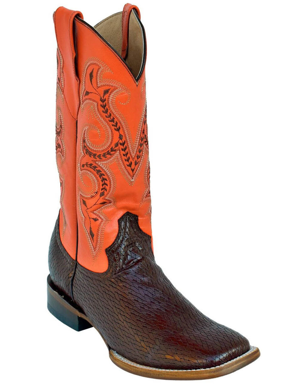 Ferrini Men's Raider Western Boots - Square Toe, Chocolate, hi-res