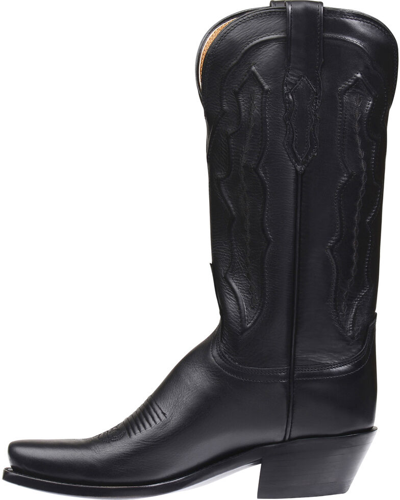 Lucchese Handmade Grace Ranch Hand Western Boots - Square Toe  , Black, hi-res