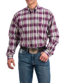 732590c3a3 Cinch Men s Purple Plaid Plain Weave Long Sleeve Western Shirt.  56.99. Cinch  Mens White ...