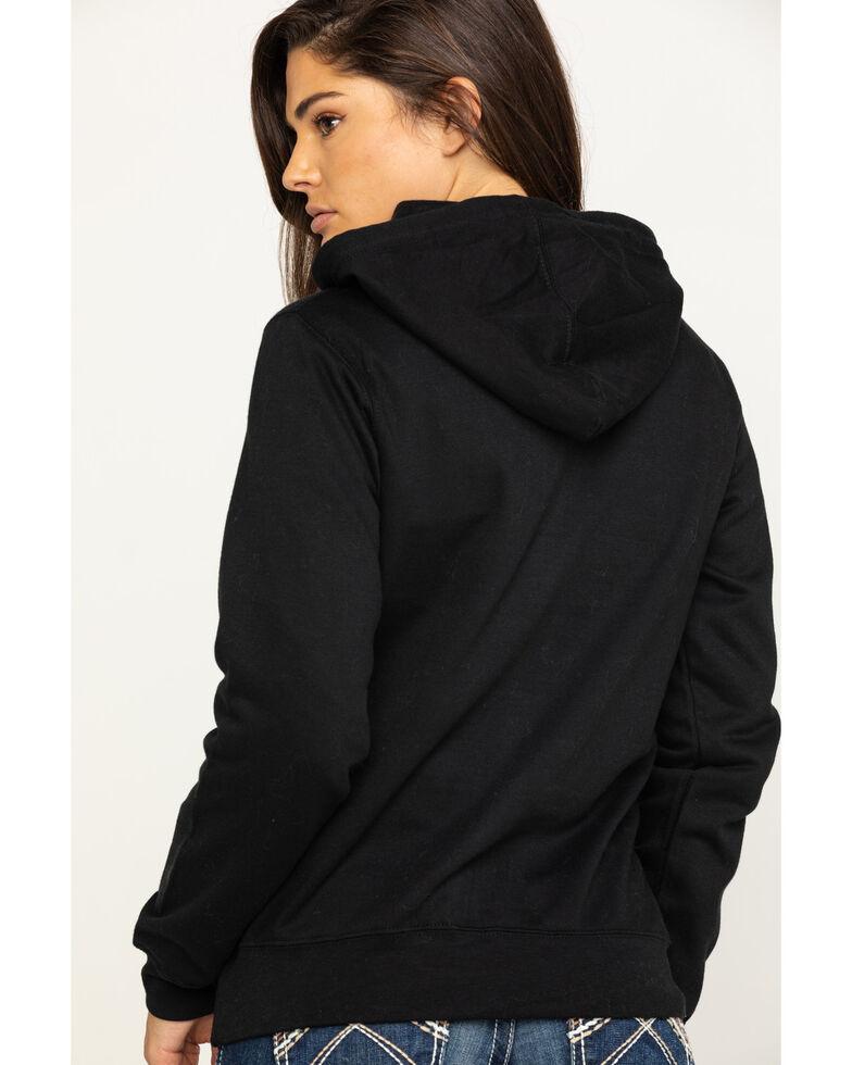 Jack Daniel's Women's Black Traditional Logo Label Hoodie, Black, hi-res