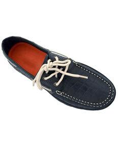 Ferrini Women's Black Croc print Shoes - Moc Toe, Black, hi-res