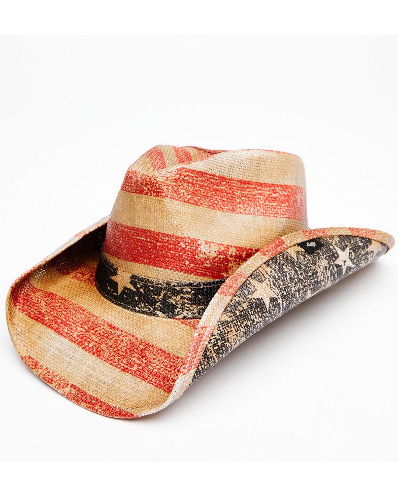 Cody James Men's Natural O Patriot Straw Western Hat , Natural, hi-res