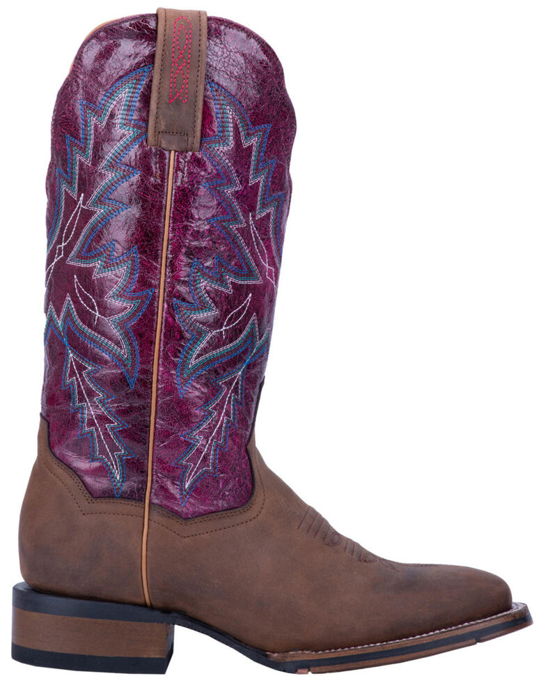 Dan Post Women's Pasadena Western Boots - Wide Square Toe, Brown, hi-res