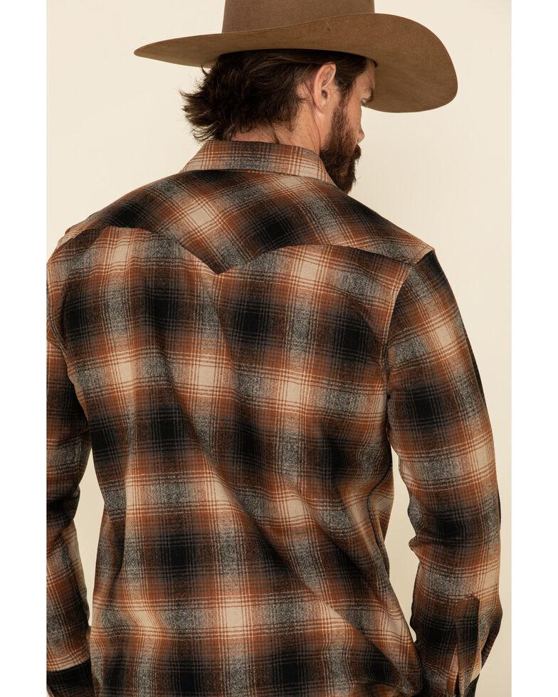 Pendleton Men's Brown Canyon Ombre Plaid Long Sleeve Western Shirt , Brown, hi-res