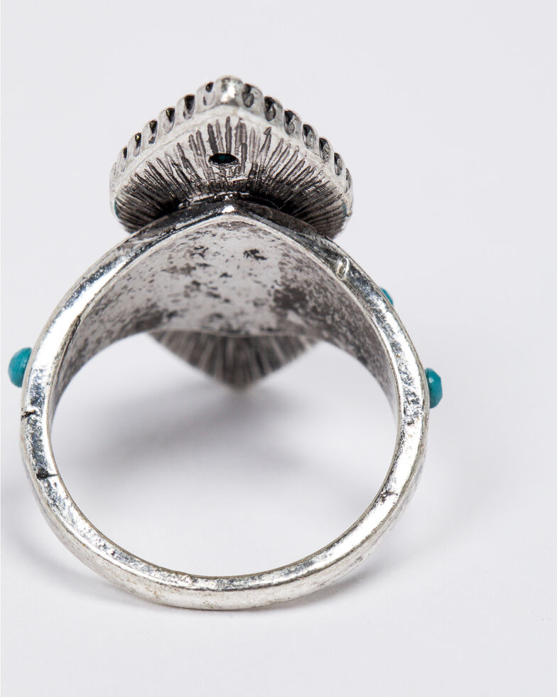 Shyanne Women's Emma Rae Double Tear Turquoise Ring - Size 7, Turquoise, hi-res