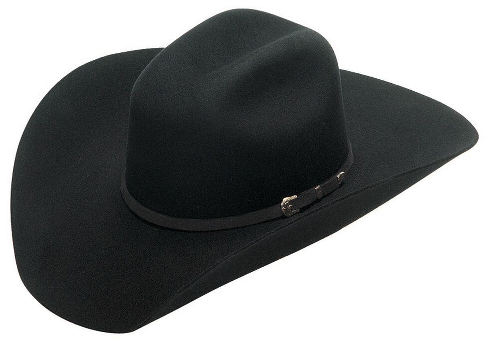 Twister Buckle Band 2X Select Wool Cowboy Hat, Black, hi-res