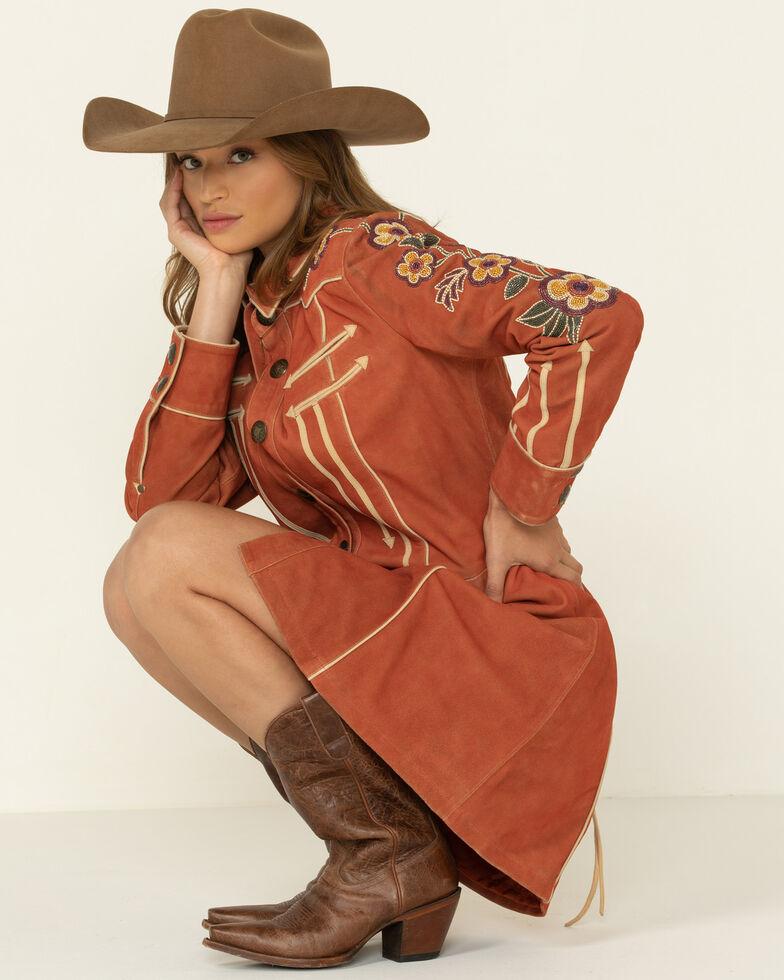 Double D Ranch Women's North Platte Suede Jacket , Rust Copper, hi-res