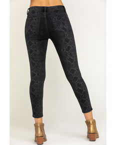 Miss Me Women's Black Python Print Basic Skinny Jeans, Black, hi-res