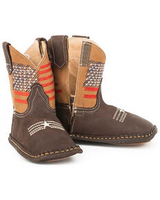 Roper Infant Boys' Lil American Western Boots, Brown, hi-res