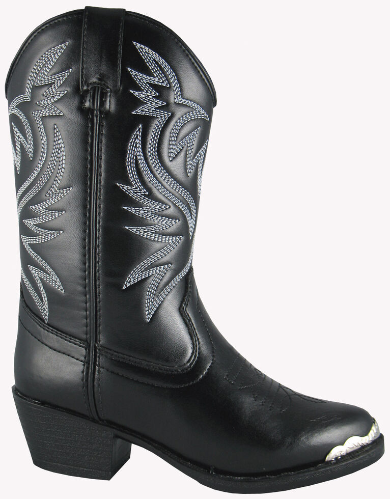 Smoky Mountain Toddler Boys' Mesquite Western Boots - Round Toe, Black, hi-res
