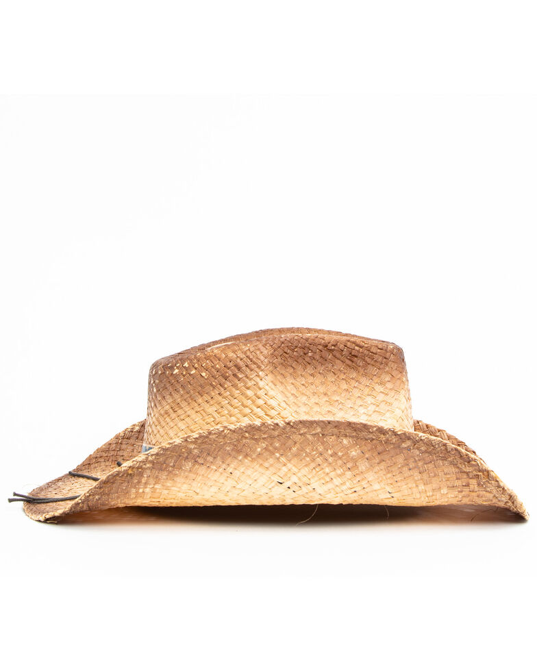 Cody James Men's Lomo Western Straw Hat , Brown, hi-res