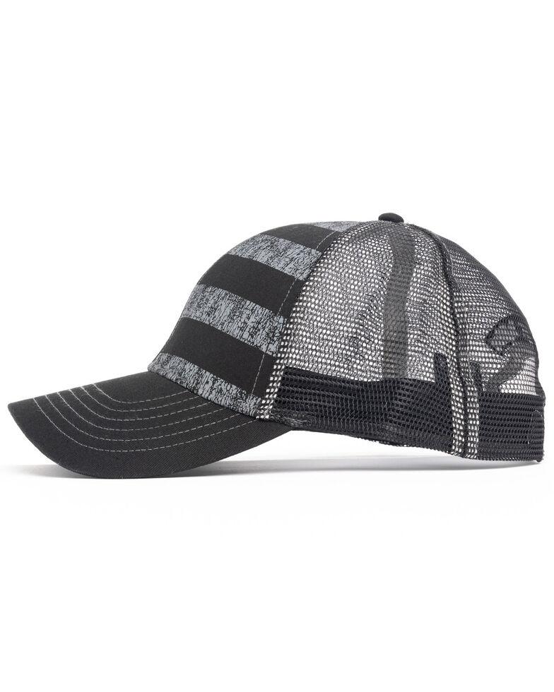Cody James Men's Black On Black Flag Mesh Ball Cap , Black, hi-res