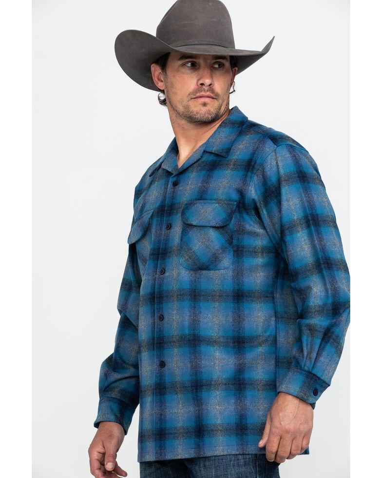 Pendleton Men's Original Board Flannel Shirt Jacket, Dark Blue, hi-res
