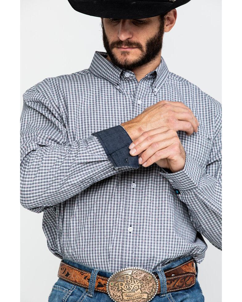 Cody James Core Men's Stonewall Small Plaid Long Sleeve Western Shirt - Tall , Grey, hi-res