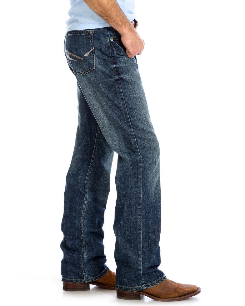 Wrangler 20X Men's No.33 Hampton Relaxed Bootcut Jeans , Blue, hi-res