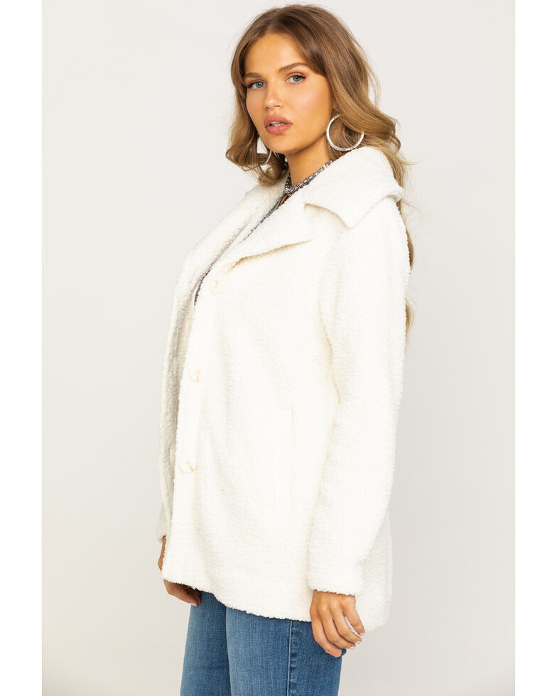 Idyllwind Women's Stay Cozy Teddy Jacket, Natural, hi-res