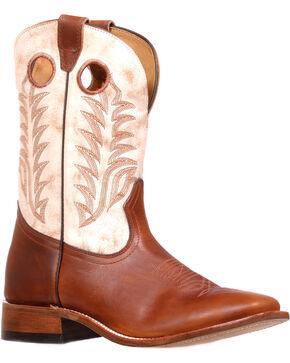 Boulet Men's Challenger Desert Bone Stockman Boots - Square Toe, Brown, hi-res
