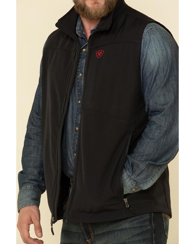 Ariat Men's Black Americana Logo 2.0 Softshell Vest , Black, hi-res